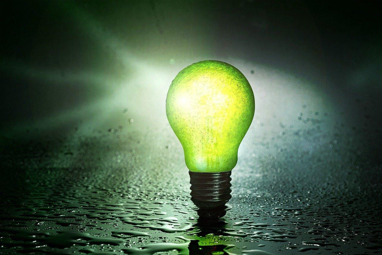 una lampadina accesa senza corrente per il mio progetto termico