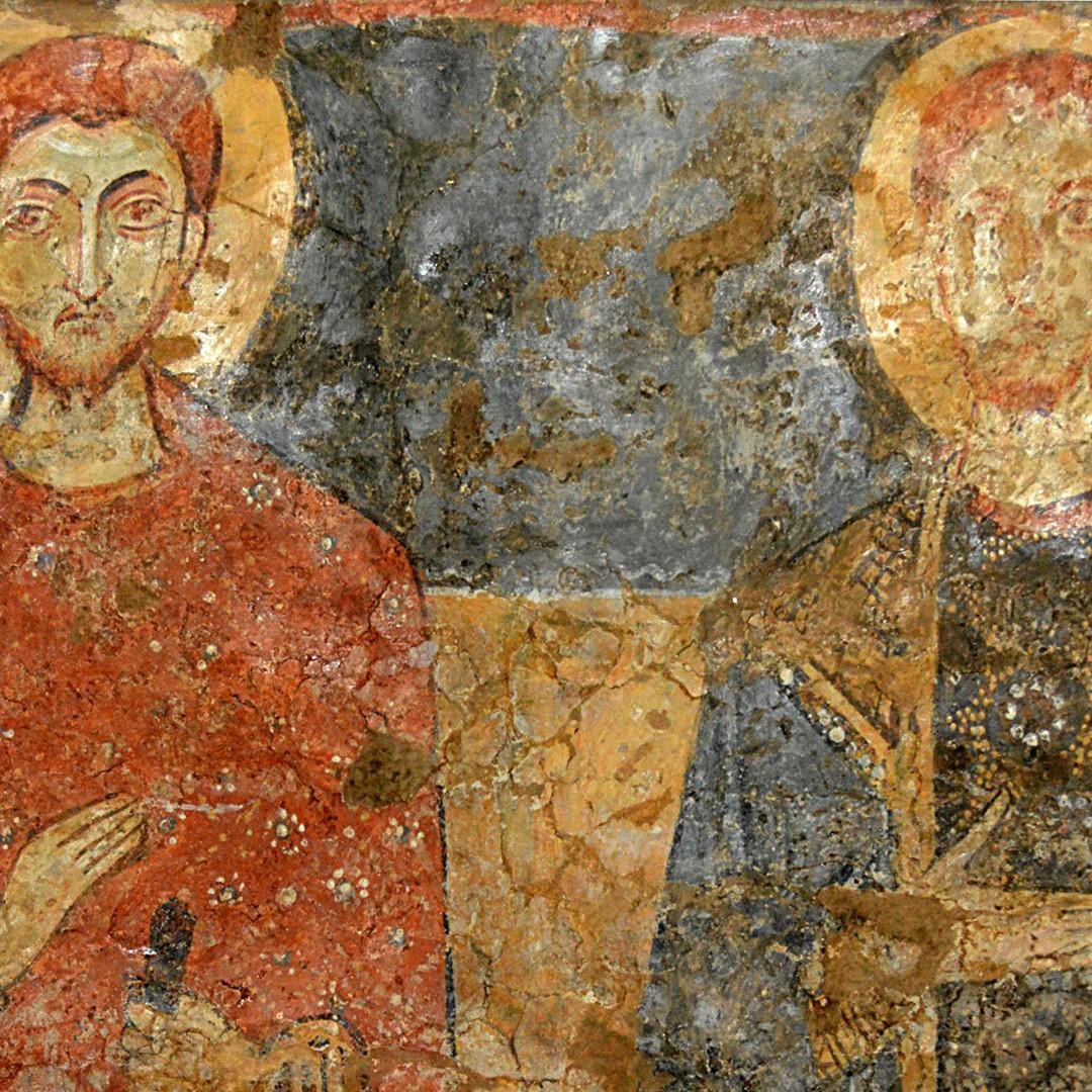 vecchio dipinto a otranto che rappresenta dei basiliani