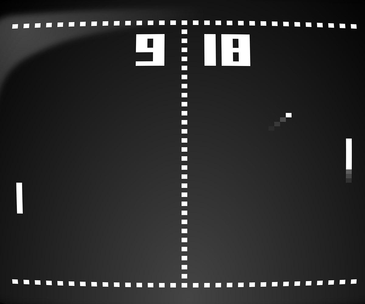 videata del retrogame pong tennis