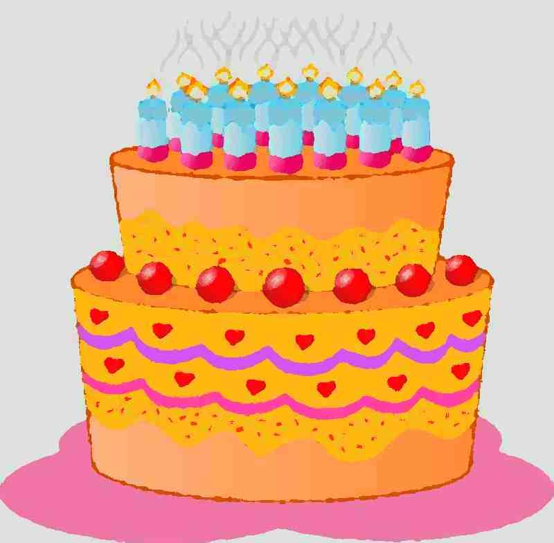 auguri di compleanno disegno torta di compleanno