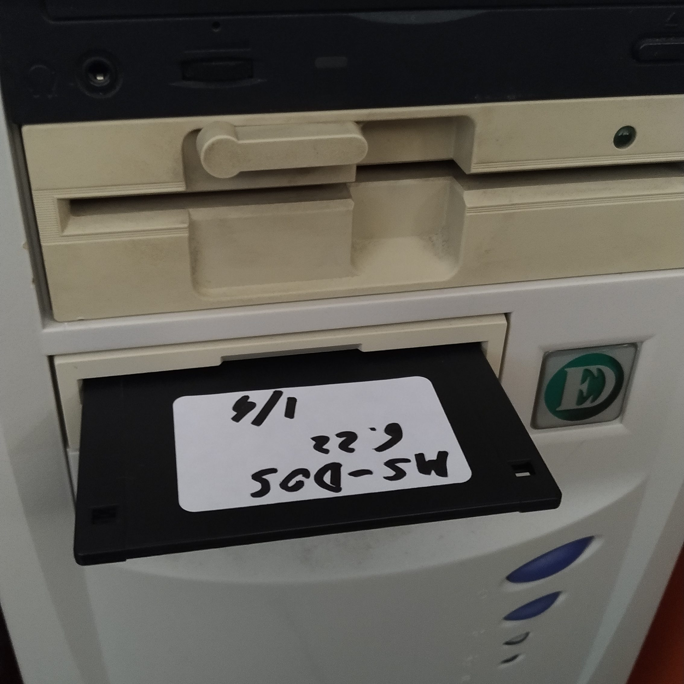 floppy dos 6.22 e lettori floppy da 3.5 5.25