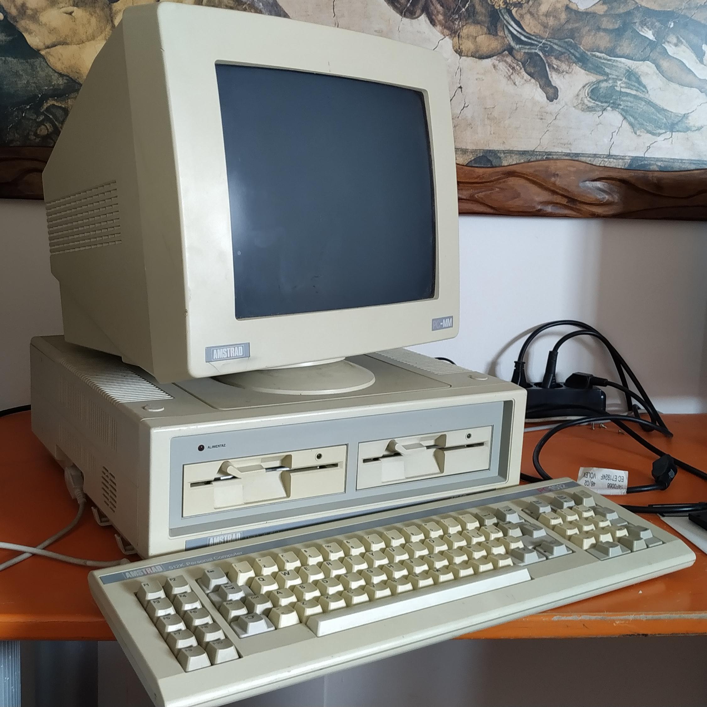 Amstrad PC1512 DD il mio primo computer