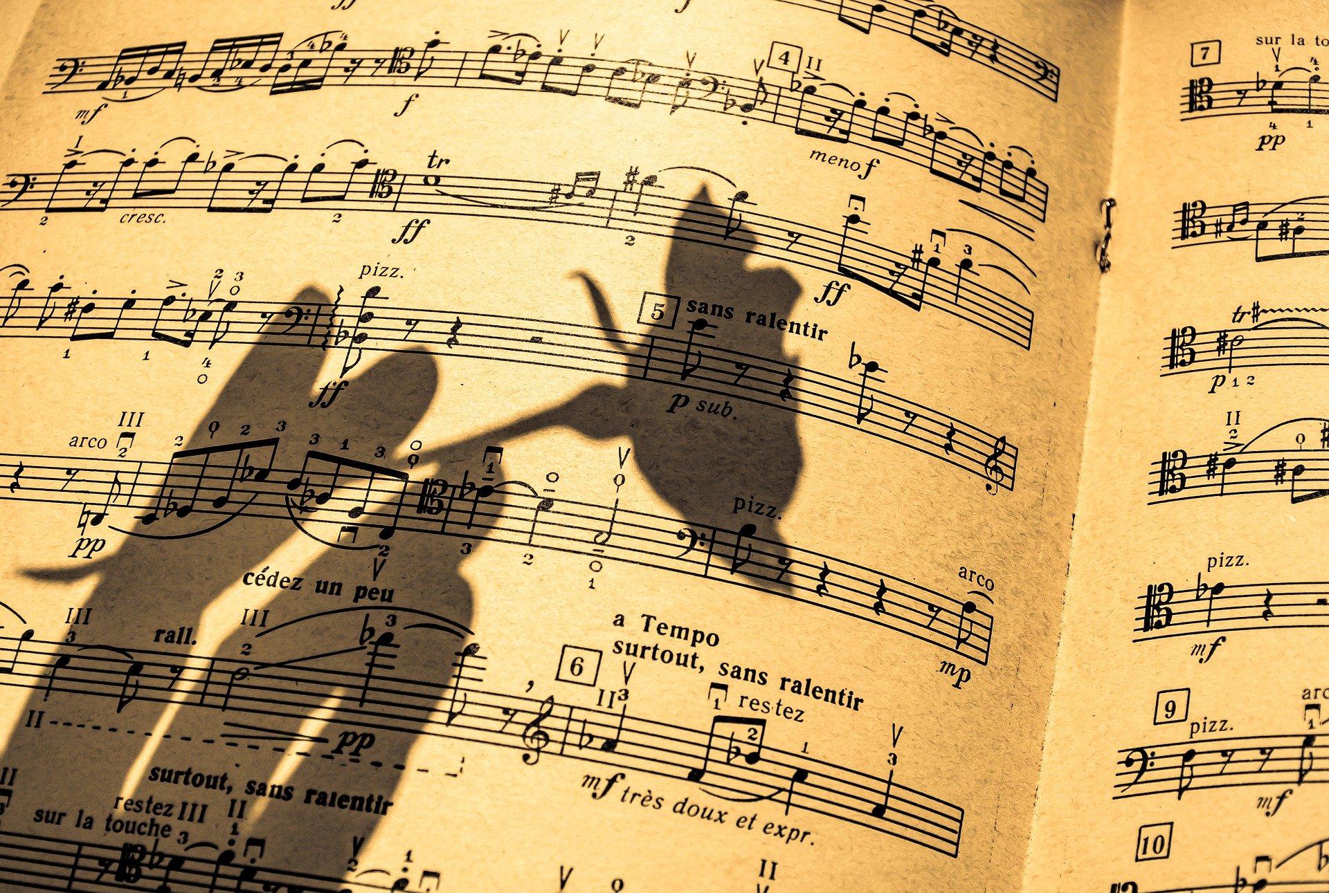 spartito musicale per sanremo musica e parole
