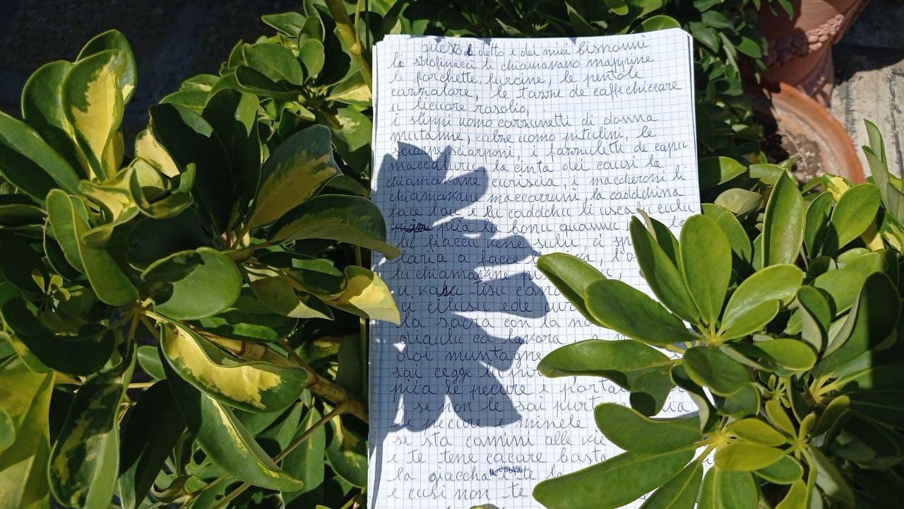 quaderno di appunti in dialetto salentino
